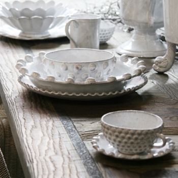 Our Dinnerware is versatile and beautiful; these collections go from the everyday table to the special occasion with ease. We feature the latest in tableware design, and the most desirable in dinnerware and serving ware collections. Jars Ceramistes from France, Vietri from Italy, Juliska, Sophie Conran, and more, can all be found at Chintz.