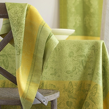 Beautiful collection of tablecloths, napkins, runners to dress your table.