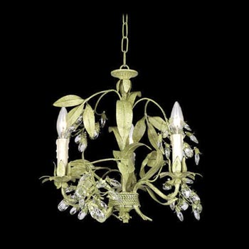 Crystal and Iron Hanging Lamp