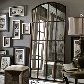 Amiel Arch Antiqued Mirror