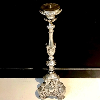 Silver Torchiere Candle Holder