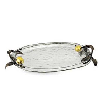 Lemonwood & Silver Tray