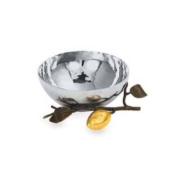 Lemonwood Stainless Steel Nut Bowl
