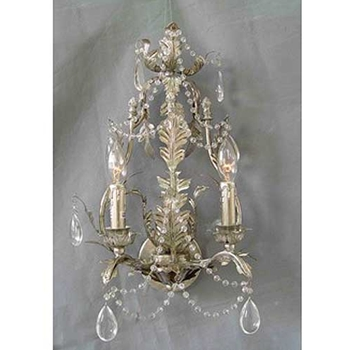 Silver Leaf Wall Sconce