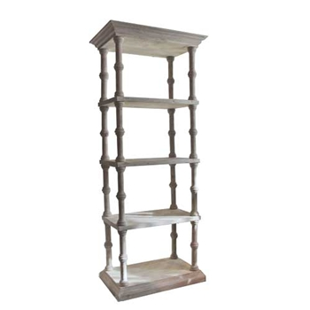 Roman White Wash Bookcase