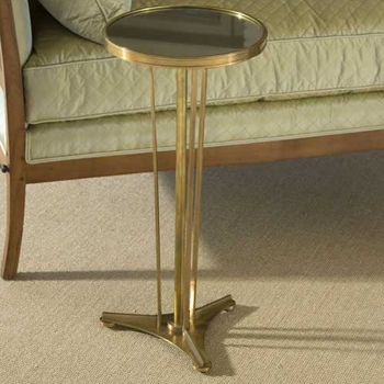 French Bronze Mirror Side Table