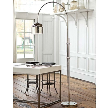 Arc Nickel Floor Lamp