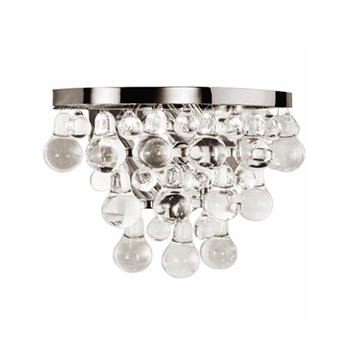 Nickel Bling Wall Light