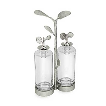 Botanical Nickel Cruet