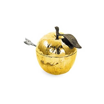 Gold Honey Pot w/ Spoon