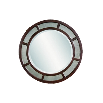 Double Rim Ebony Mirror