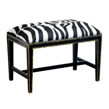 Hilary Black & White Ottoman