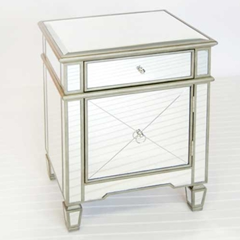 Claudette Mirrored Side Table