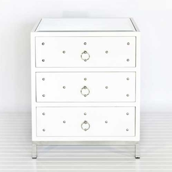 Studly Jr White Side Table