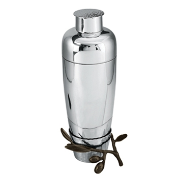 Olive Branch Stainless Steel Cocktail Shaker