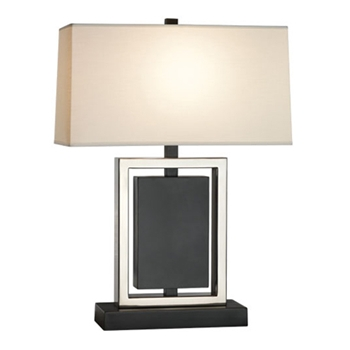 Crispin Bronze/Silver Table Lamp