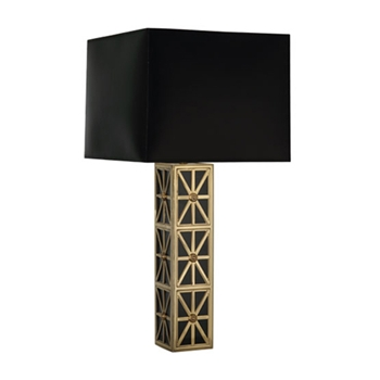 Directoire Black/Brass Table Lamp