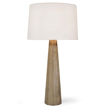Concrete/Brass Table Lamp