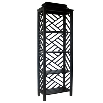 Meiling Black Bookcase