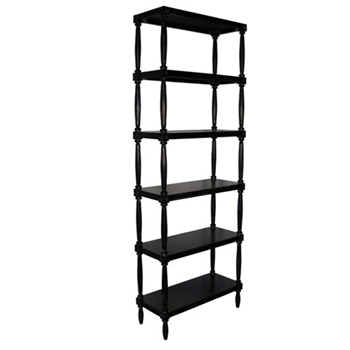 Isabelle Black Bookcase