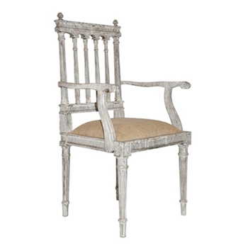 St Michel White Wash Arm Chair