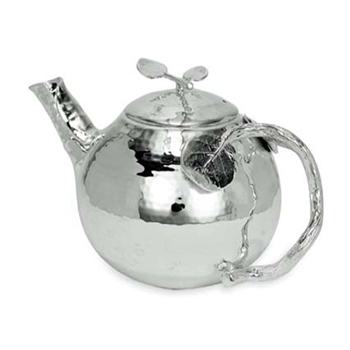 Botanical Silver Tea Pot