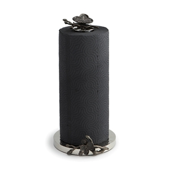 Black Orchid Nickel Napkin Holder