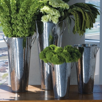 Faux Bois Stainless Steel Vase