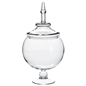 Globe Footed Clear Apothecary