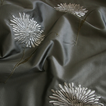 Steel Embroidered Dowery Mum