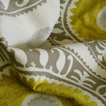 Citron Chenille Brompton Pewter