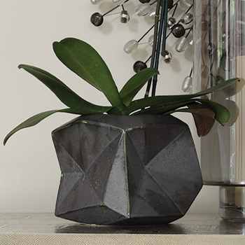 Faceted Patina Planter