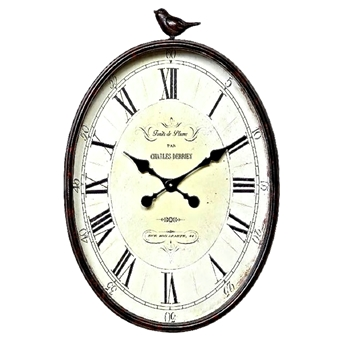 Bird Top Clock 17W/25H