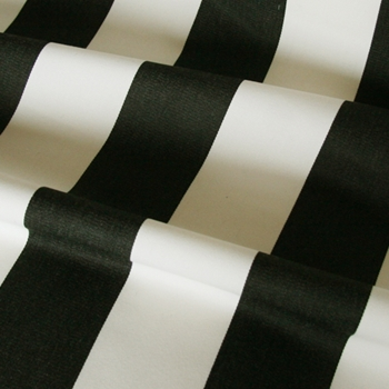 Black & Cream Sunbrella Cabanna Stripe