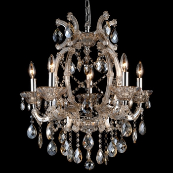 Crystal Champagne Chandelier