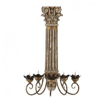 Chaffed Sconce 21W/11D/30H