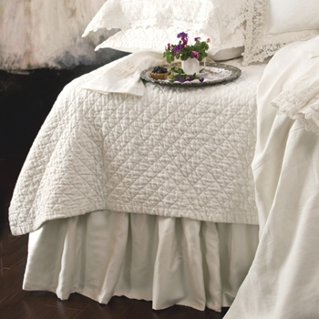 Emily White Quilted Coverlet