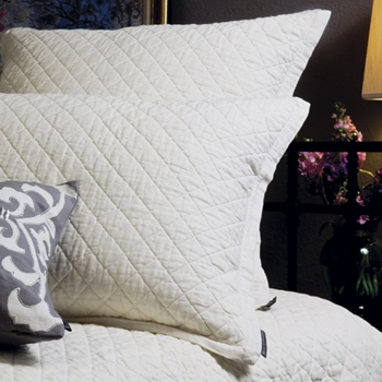 Emily White Quilted Cushion