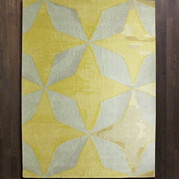 Solitaire Yellow Rug