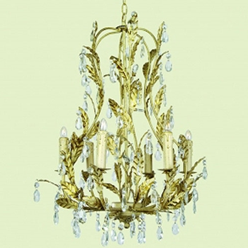 Gold Leaves Chandelier