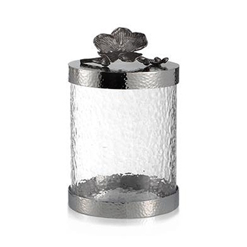 Black Orchid Cannister 8in