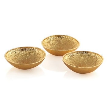 Lemonwood Gold Bowls/ Set of 3
