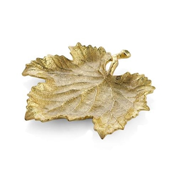 Gold Plate - Grape Leaf 8in