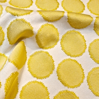 67. Yellow Jacquard Well Rounded