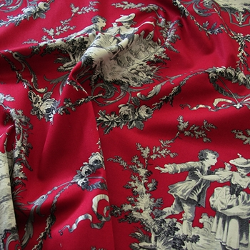 83. Red Toile Sweet William