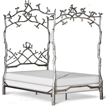 Forest Canopy Silver Bed Q/K 63W/86D/98H (Q)