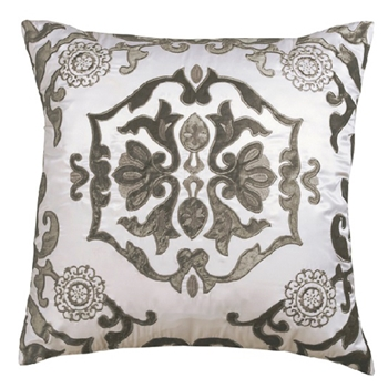 Morocco Linen Silver Cushion 24SQ