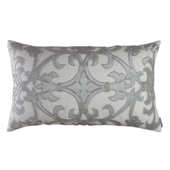 Olivia White/Silver Cushion 30W/18H