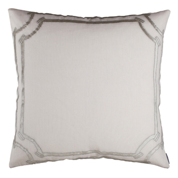 Angie White/Silver Cushion 28SQ