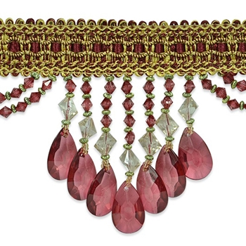 Glass Fringe Ruby Isabella 4in